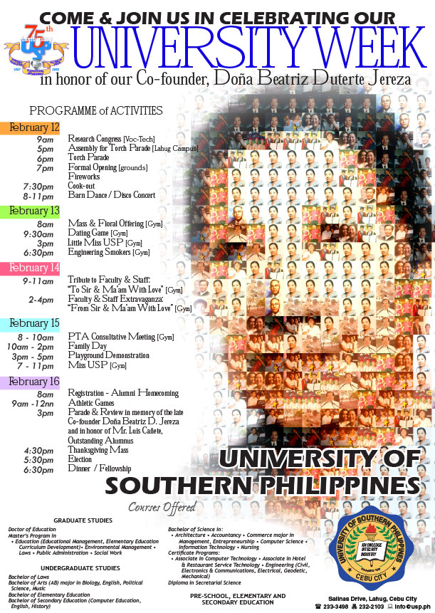 ad of University of Southern Philippines