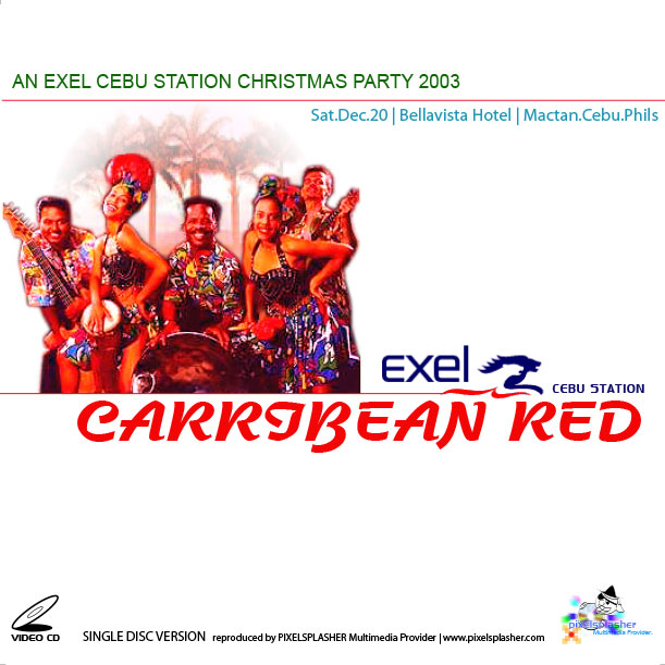 CD cover for Exel Cebu Station Christmas Party 2003