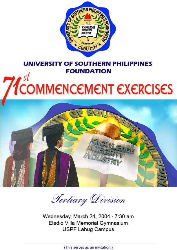 Programme cover of University of Southern Philippines