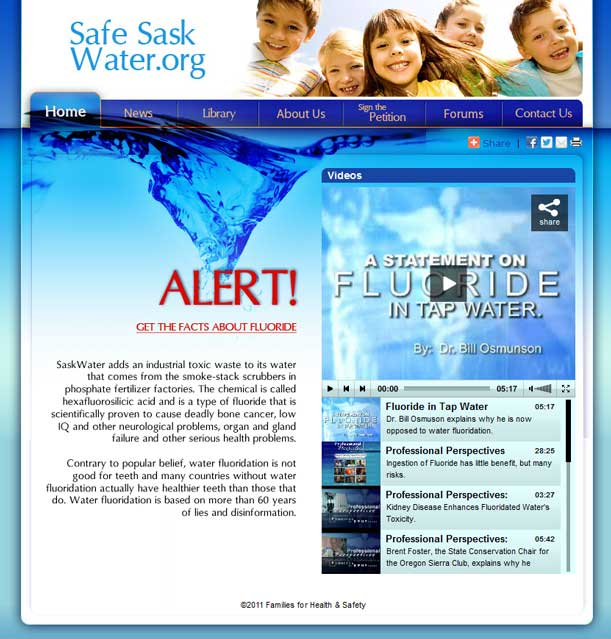 Web design for Families for Health & Safety